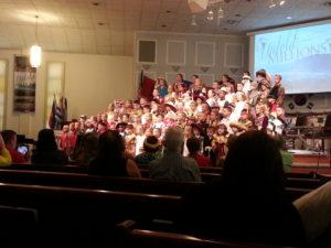 Choir at a church service